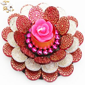 Ghasitaram Gifts-floating Flower T-lite