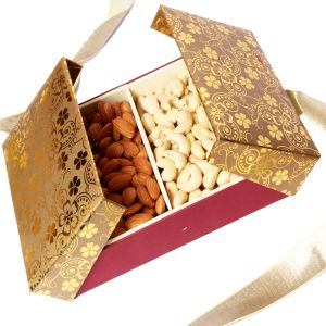 Dryfruit -gold Book Shining Cashew Almond Box