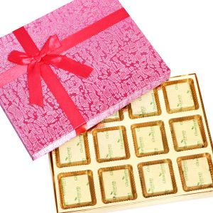 Chocolates- Pink 12 PCs Roasted Almond Chocolate Box