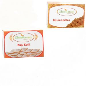 Mithai Hampers - Kaju Katli And Besan Laddoo