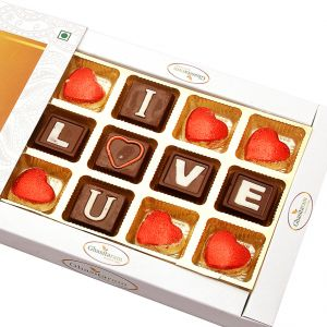 Theme Chocolates- I Love You In Whit Box