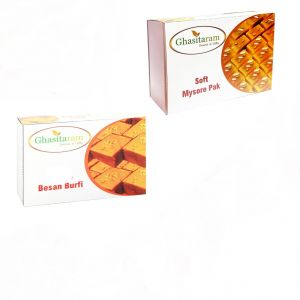 Mithai Hampers - Besan Barfi And Mysore Pak