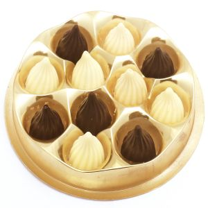 Ganesh Chturthi Gifts - Pack Of 11 Dark And White Chocolate Modaks