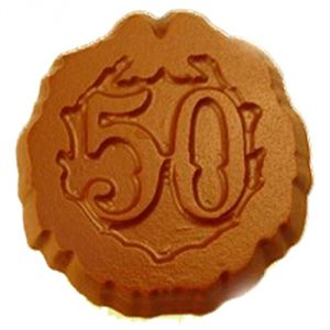 Chocolates-50th Birthday/anniversary Chocolate Coins