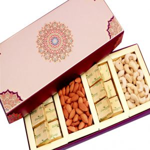 Dryfruits -long Fusion Cashews,almonds, Chocolates Box Hamper
