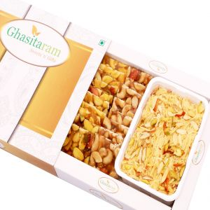 Mithai Hampers -soan Papdi And Dryfruit Chiiki Hamper