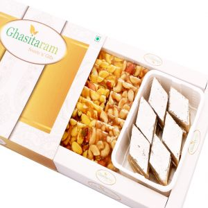 Mithai Hampers -kaju Katli And Dryfruit Chiiki Hamper