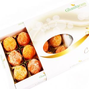 Sweets-coconut Laddoos In White Box 12 PCs