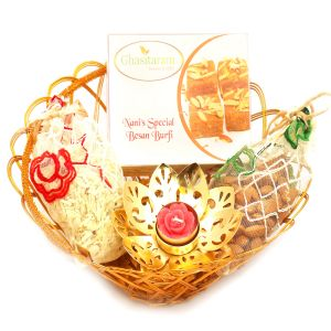 Gold Wired Basket With Nani