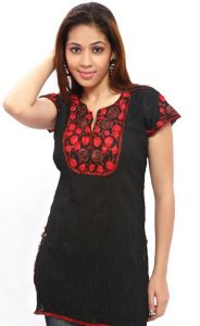 Black And Red Kurti(sn4461)