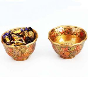 Gifts Hamper-kashmiri Bowls With Chocolate Eclairs