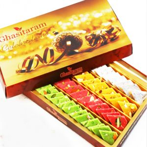 Sweets-ghasitaram Gifts Sugarfree Assorted Katlis Box