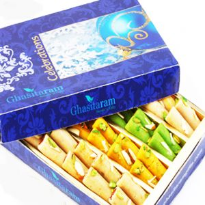 Sweets-ghasitaram Gifts Sugarfree Assorted Rolls Box