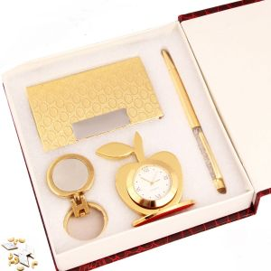Gifts - Crystal Pen With Cardholder, Clock And Keychain