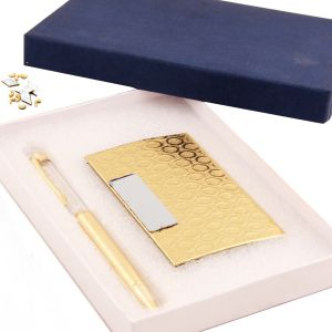 Gifts - Crystal Pen With Cardholder