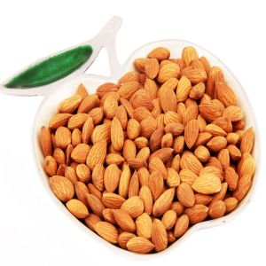 Dryfruits - Silver Apple Tray With Almonds