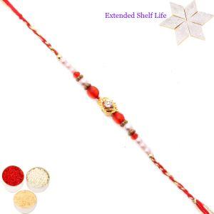 Rakhis & Gifts (USA) - Online Rakhi for Brothers in USA - FT- 17408 Fancy Thread Rakhi