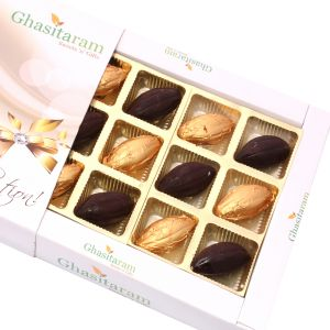 Sugarfreechocolate-whole Roasted Almond Sugarfree Chocolates Box (12 Pcs)