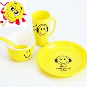Rakhi   Think Different (India) - Kids Gifts with Rakhi-Smiley Plate Set