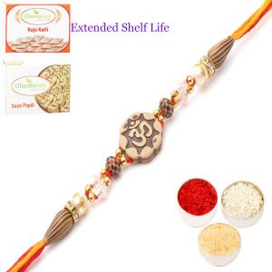 Thread Rakhis (India) - Rakhi for Brother Rakhis Online - LD-2813 Om  Rakhi Thread