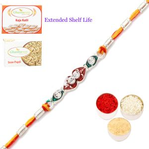 Rakhi For Brother Rakhis Online - Silver Rakhi - Slrr431