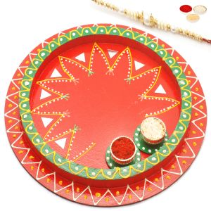 Rakhi Gifts For Usa - Reflection Of Love Pooja Thali