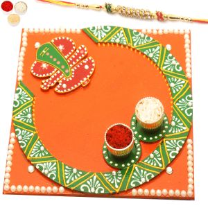 Rakhi Gifts For Usa - Siddhi Vinayak Pooja Thali