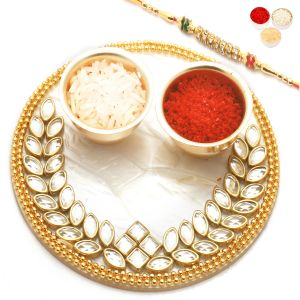 Rakhi Gifts For Usa - The Perfect Bond Pooja Thali