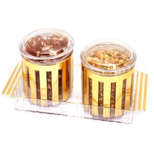 Diwali Gifts Sweets -revlone Set Of 2 Sugarfree Dates And Figs Bites, Roasted Namkeen Air Tight Containers