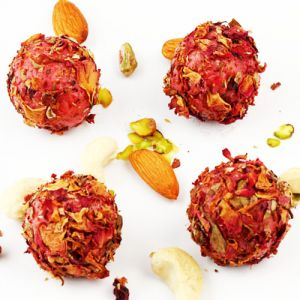 Ghasitarams Sweets Rose Petal Strawberry Balls
