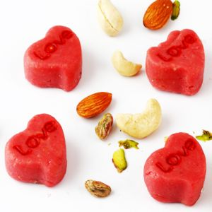 Mithais (Misc) - Ghasitarams Sweets Sugarfree Love Strawberry Hearts