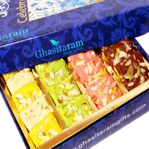 Indian Sweets - Sweets-Ghasitaram Gifts Sugarfree Assorted Mawa Barfis