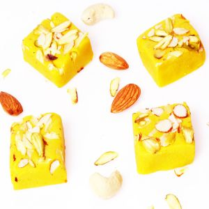 Indian Sweets - Sweets-Ghasitaram Gifts Sugarfree Kesar mawa barfi