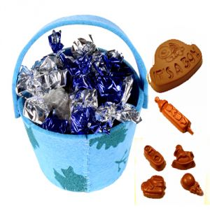 Chocolate-blue Basket