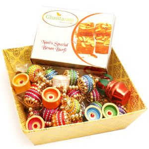Hampers - Yellow Basket With Nani