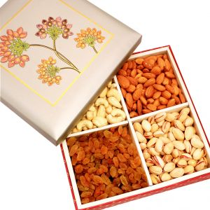 Dryfruits - Silver Printed Dryfruit Box 400 Gms