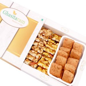 Mithai Hampers -assorted Dryfruit Chikki And Methi Mathri Hamper