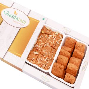 Mithai Hampers -besan Barfi And Methi Mathri Hamper