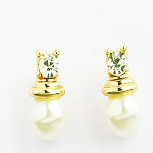 Pearl Earrings - Pearl Diamond Earings- Earf9609