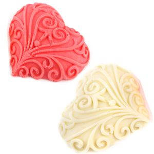 Set Of 2 Designer Chocolate Hearts