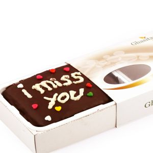 Gifts-i Miss You Chocolate Cake