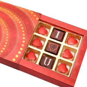 Chocolate-red Prism I Love You Chocolate Box