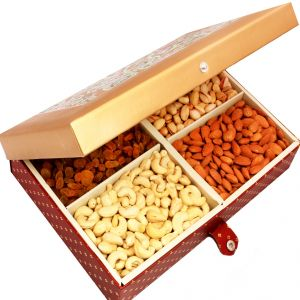 Dryfruits - Gold Printed Dryfruit Box 400 Gms