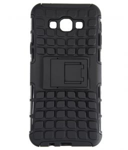 Productmine Defender Back Cover Case With Kickstand For Samsung Galaxy On7 (black)