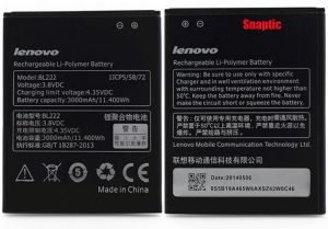 Lenovo S660/S668 Li Ion Polymer Replacement Battery BL-222 by Snaptic