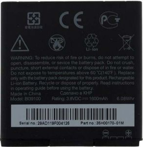Htc Sensation Xl Li Ion Polymer Replacement Battery Bl39100 By Snaptic