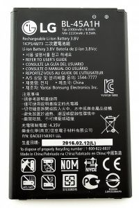 Panasonic,G,Vox,Snaptic,Zen,Digitech Mobile Phones, Tablets - LG K420N K10 K10 LTE Q10 K420 Original Li Ion Polymer Battery BL-45A1H by Snaptic