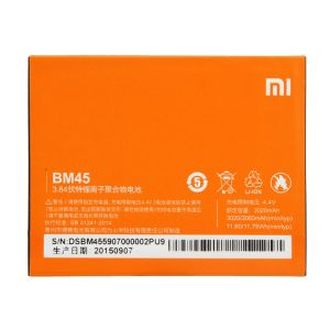 Sandisk,Snaptic,G,Htc,Manvi,Oppo,Concord Mobile Phones, Tablets - MI Redmi Note 2 Li Ion Polymer Replacement Battery BM-45 by Snaptic