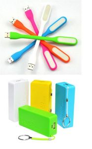 5600mah Universal Power Bank With USB LED Flexible Lamp