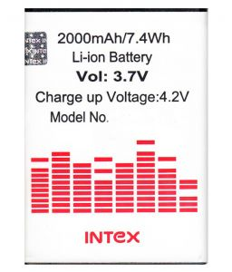 Panasonic,Vox,Snaptic,Zen,Digitech Mobile Phones, Tablets - Intex Aqua Q1 Li Ion Polymer Replacement Battery BR1675AX by Snaptic